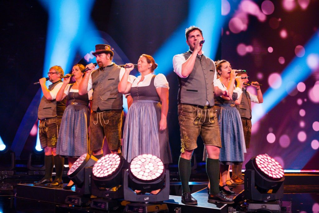 A-Capella-Ensemble chaingang vom Samerberg im ORF-Halbfinale