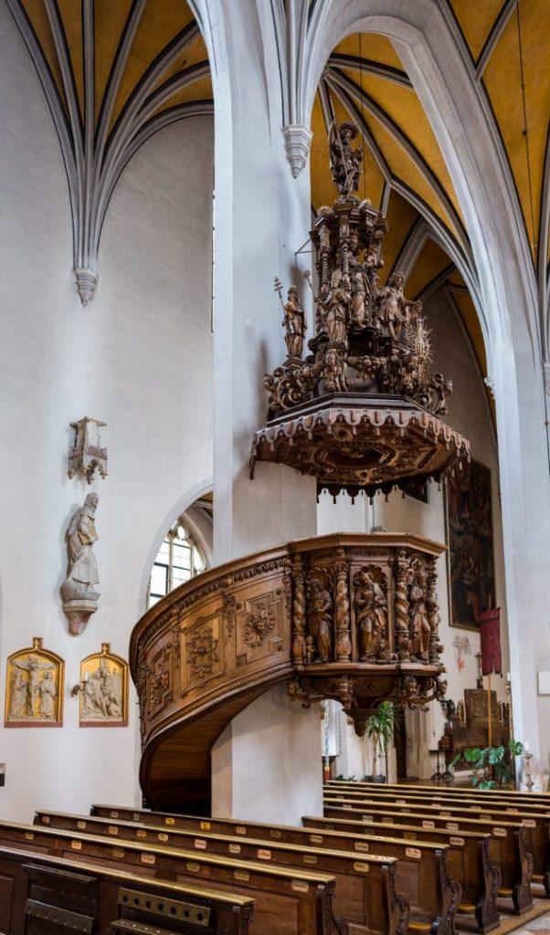 Zürnkanzel in der Pfarrkirche St. Jakob