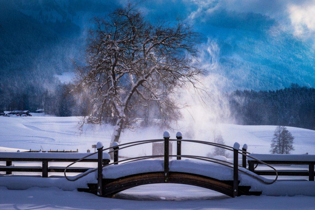 Das Naturbad am Samerberg im Winter