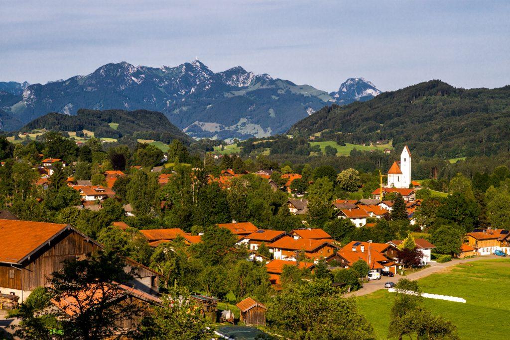 Grainbach mit dem Wendelstein im Hintergrund