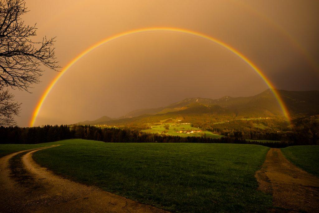 Regenbogen überm Samerberg