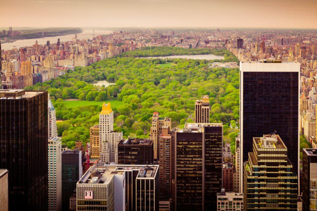 Blick vom Rockefeller Center auf den Central Park