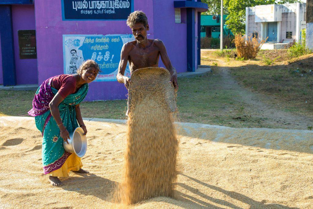 Bauernfamilie in Paramankeni