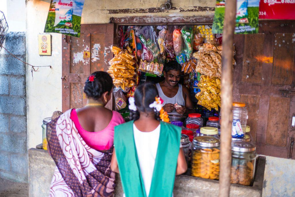 Der Lebensmittel-Laden in Paramankeni