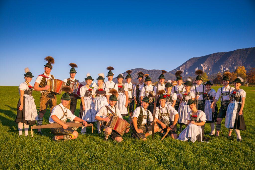 Die Aktiven des Trachtenverein Grainbach