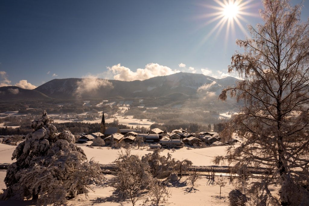 Winterlicher Blick über Törwang