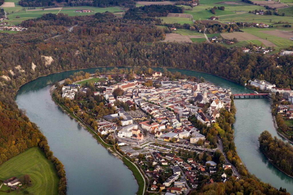 Wasserburg aus der Luft