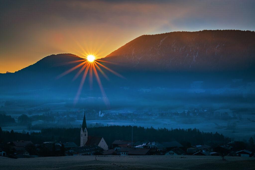 Sonnenaufgang auf dem Samerberg